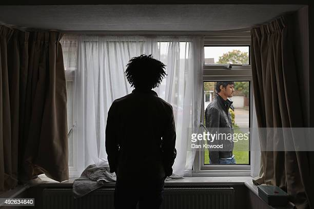 Refugee man Merhawi from Eritrea stands inside his single room accommodation on October 14 2015 in Longford England Merhawi says he has been staying...