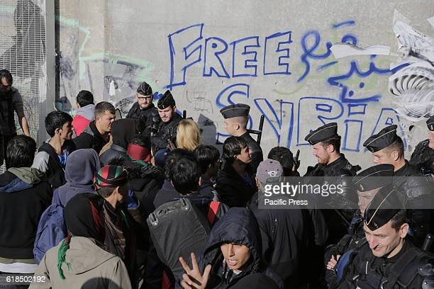 Refugees and police officers argue over getting access to the Jungle The Jungle in Calais has been officially declared empty and closed by the...