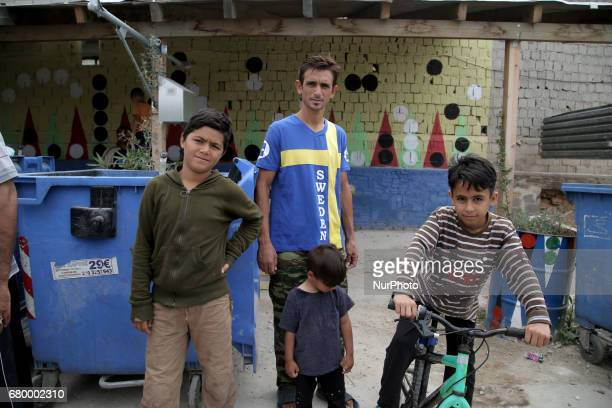 Refugees at the Eleonas refugee camp in Athens Greece on Sunday May 6 2017 Approximately 18000 refugees are now in Athens at the Eleonas camp which...