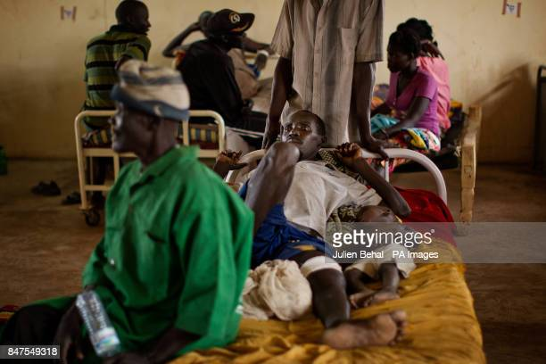 Refugees injured by the bombing of their villages in Bunj clinic which cares for people from Doro refugee camp in BunjMaban in the Upper Nile Blue...