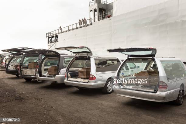 375 refugees landed in Salerno aboard the Spanish ship 'Cantabria' On board 26 dead women probably dead drowned 9 pregnant and 15 minors The bodies...