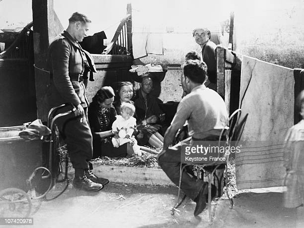 Refugees Living Inside Horses Stall At The Hippodrome Of Vichy In Vichy On 1940