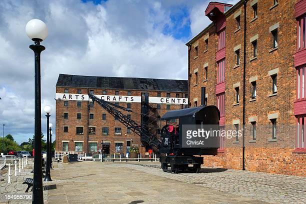 Renovada viejo almacén de edificios, Gloucester Docks, Reino Unido