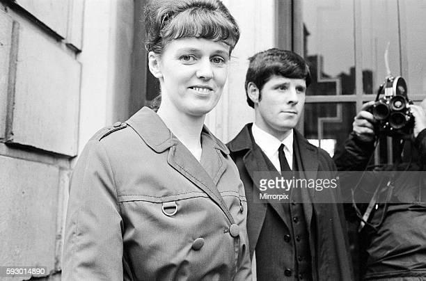 Reg Calvert Murder Case 1966 Dorothy Calvert widow of Reg Calvert pictured arriving at Inquest being held in Chelmsford Essex 27th June 1966 Also...