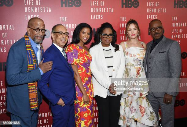 Reg E Cathey George C Wolfe Renee Elise Goldsberry Oprah Winfrey Rose Byrne and Courtney B Vance attend 'The Immortal Life of Henrietta Lacks'...
