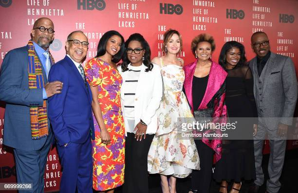 Reg E Cathey George C Wolfe Renee Elise Goldsberry Oprah Winfrey Rose Byrne Leslie Uggams Kyanna Simone and Courtney B Vance attend 'The Immortal...