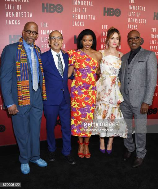 Reg E Cathey George C Wolfe Renee Elise Goldsberry Rose Byrne and Courtney B Vance attend 'The Immortal Life of Henrietta Lacks' premiere at SVA...