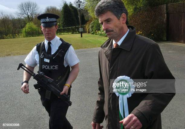 Reg Keys the father of a soldier killed in Iraq who is standing as an independent candidate against Britain's Prime Minister Tony Blair in his...