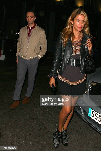 Reg Traviss and Lisa Moorish leaving the Groucho club on August 29 2013 in London England