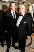 Reg Traviss and Mitch Winehouse attend a drinks reception at the Amy Winehouse Foundation Ball held at The Dorchester on November 20 2012 in London...