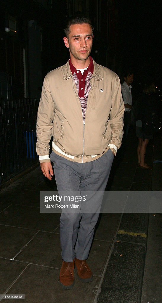 Reg Traviss leaving the Groucho club on August 29, 2013 in London, England.
