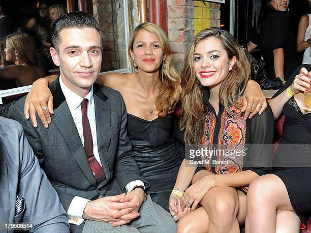 Reg Traviss Lisa Moorish and guest attend the launch of new Leicester Square nightclub 'INK' from Stephen Manderson aka Professor Green and Gerry Jon...