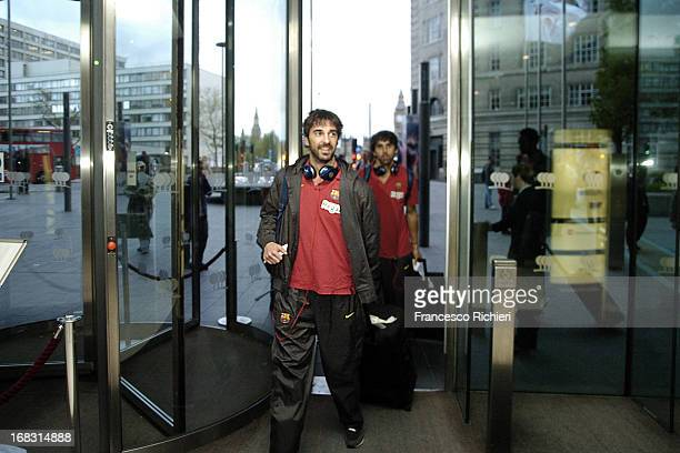 Regal Barcelona arriving to London to participate in The Turkish Airlines Euroleague Final Four at the Park Plaza Hotel on May 8 2013 in London...