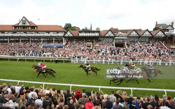 Regal Parade ridden by Adrian Nicholls wins The totepool City Plate from Balthazaar's Gift during totesport Day at Chester Racecourse Chester