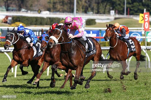 Regan Bayliss rides Kenjorwood to win race 1 The Shootout Mile During Sydney racing at Royal Randwick Racecourse on July 11 2015 in Sydney Australia