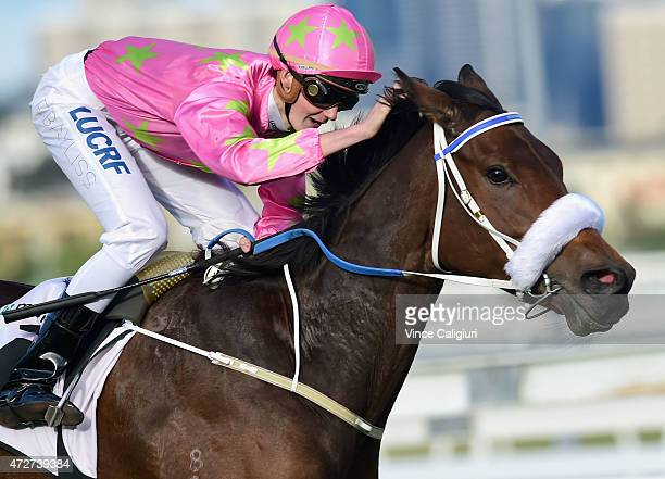 Regan Bayliss riding Kenjorwood wins Race 7 the Momentum Energy Trophy during Melbourne Racing at Flemington Racecourse on May 9 2015 in Melbourne...