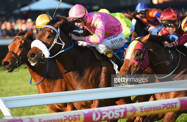 Regan Bayliss riding Kenjorwood wins Race 9 during Melbourne Racing at Caulfield Racecourse on September 26 2015 in Melbourne Australia