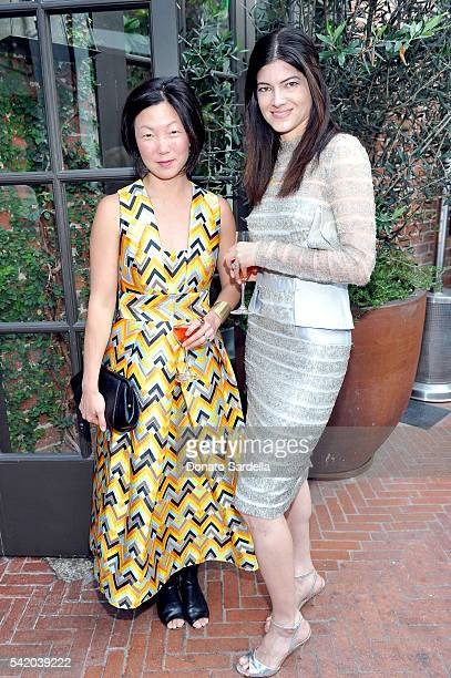 Regan Grusy and Katherine Parr attend as Susan Casden and Friends of The Costume Institute The Metropolitan Museum of Art host a dinner in honor of...