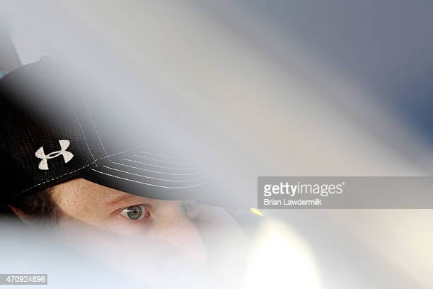 Regan Smith driver of the Breyers Chevrolet sits in his car in the garage during practice for the NASCAR XFINITY Series ToyotaCare 250 at Richmond...
