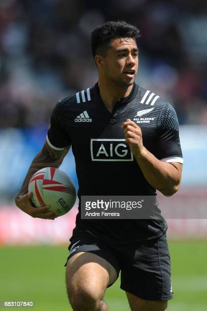 Regan Ware of New Zealand during the match between South Africa and New Zealand at the HSBC Paris Sevens stage of the Rugby Sevens World Series on...