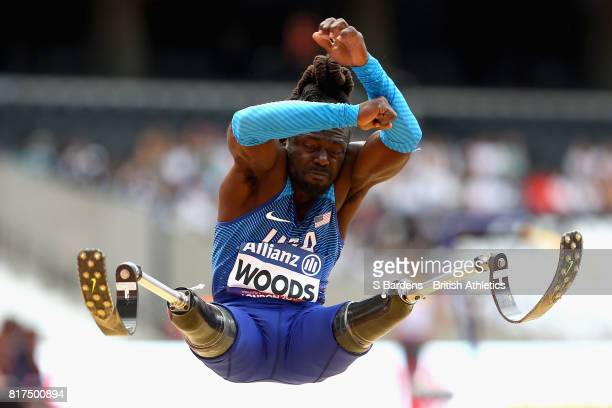 Regas Woods of the United States competes in the Men's Long Jump T42 Final during Day Five of the IPC World ParaAthletics Championships 2017 London...
