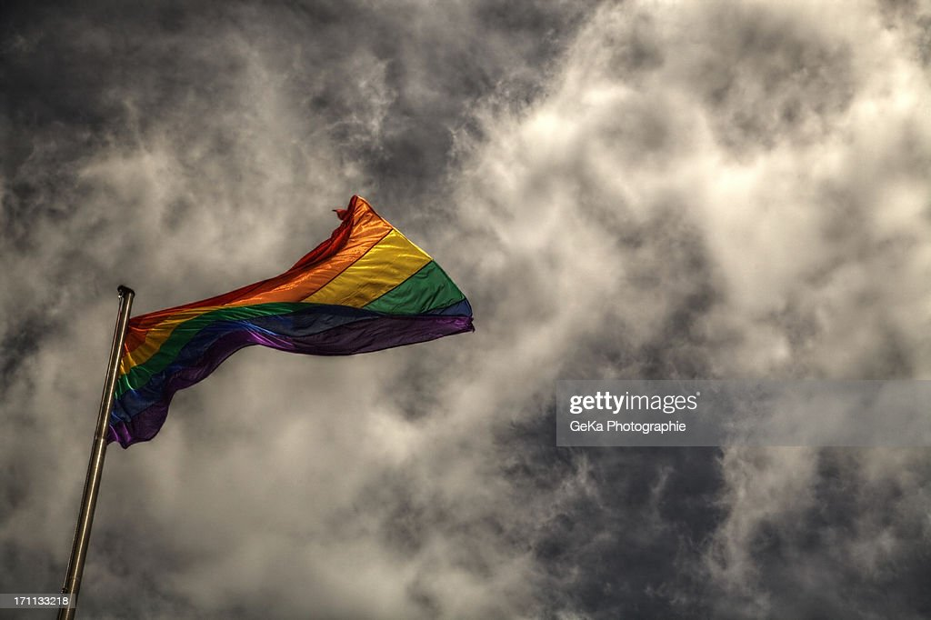 Regenbogenflagge : Stock Photo