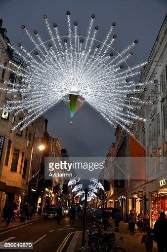 regent street at christmas -  London - England