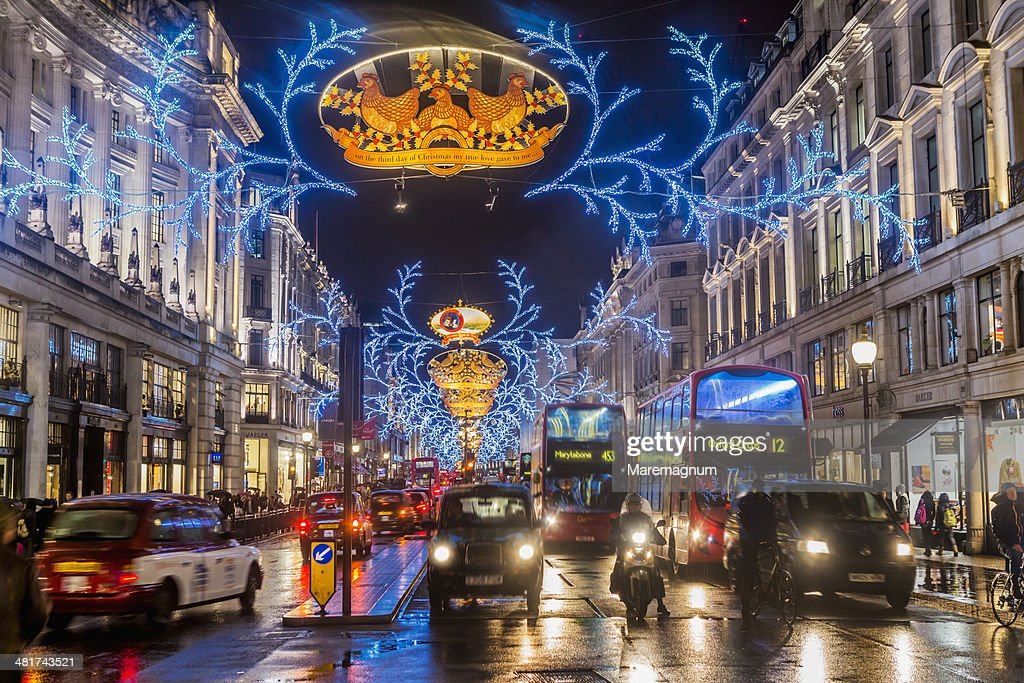 Regent street during the Christmas period