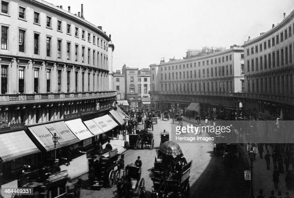 Regent Street Quadrant Westminster London late 19th century This rounded section of street is known as the Quadrant was originally planned to become...