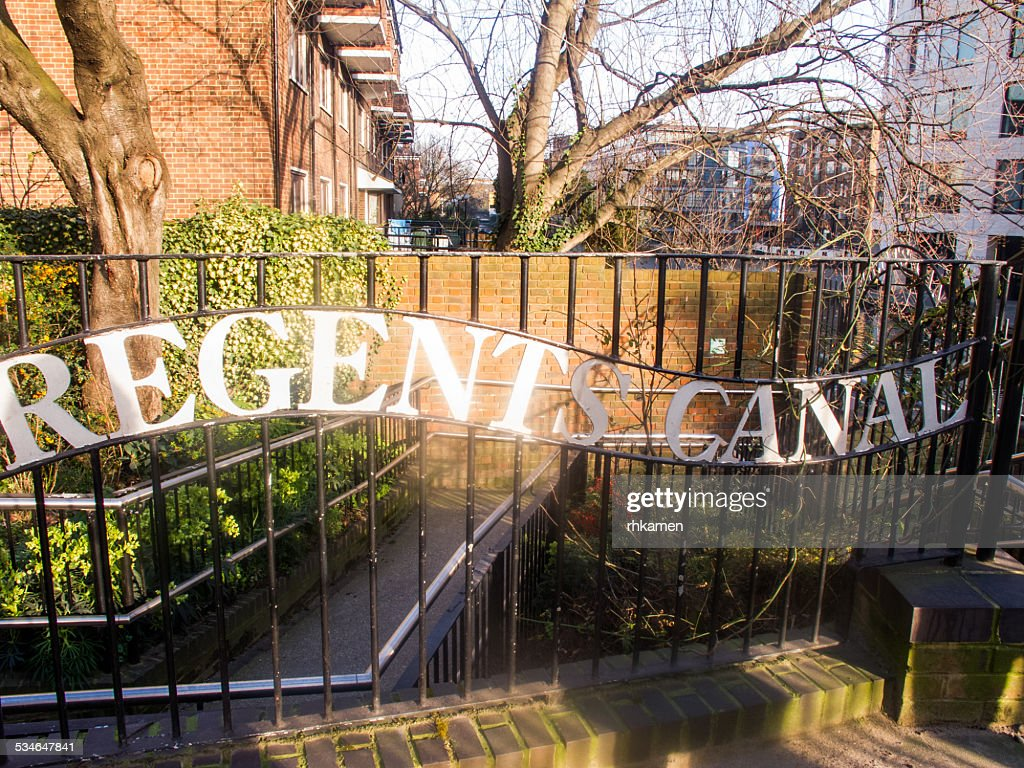 Regent's Canal (sign).  London, UK