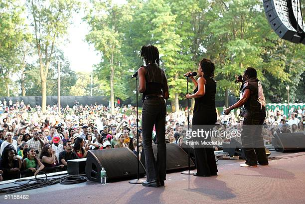 Reggae artist Toots performs onstage at the 'Roots Rock Reggae Tour 2004' at Prospect Park August 10 2004 in New York City