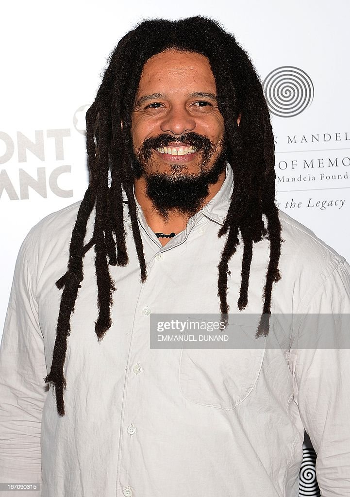Reggae legend Bob Marley 's son Rohan Marley arrives during a party for 'Power of Words: Nelson Mandela', a celebration of filmmaking inspired by the meaning behind the words and quotes of Nelson Mandela, during the 2013 Tribeca Film Festival in New York, April 19, 2013. AFP PHOTO/Emmanuel Dunand