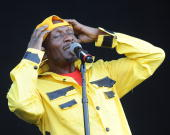 Reggae Legend Jimmy Cliff performs during day 3 of the Bonnaroo Music and Arts Festival at the Bonnaroo Festival Grounds on June 12 2010 in...
