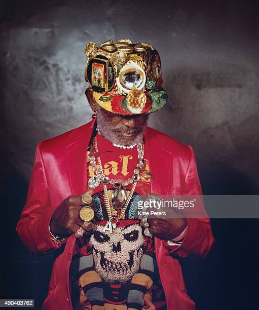 Reggae producer Lee Scratch Perry is photographed for the Guardian on March 22 2014