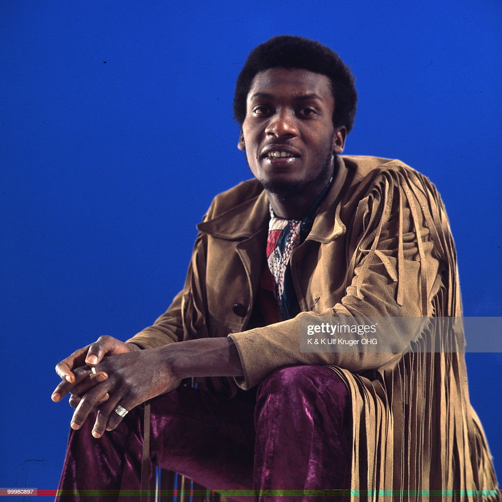 Reggae singer Jimmy Cliff poses for a studio portrait session c 1969 in Germany Picture by Gunter Zint