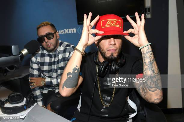 Reggaeton duo Fido and Alexis of 'Alexis Y Fido' visit at SiriusXM Studios on August 21 2017 in New York City