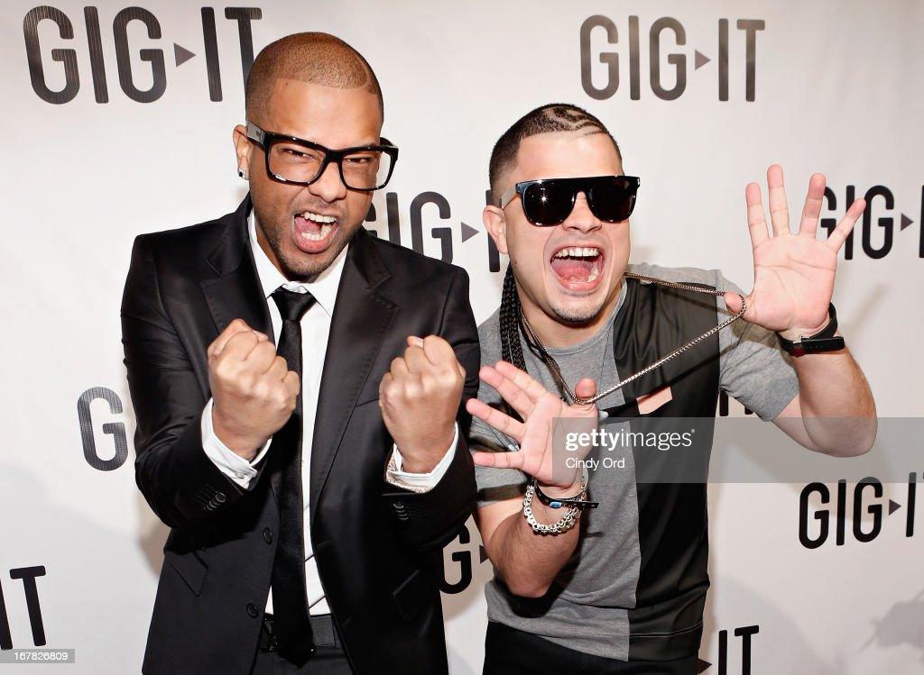 Reggaeton duo Jowell & Randy attend the Gig-It Launch Party at Capitale Bowery on April 30, 2013 in New York City.