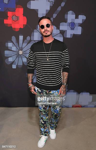 Reggaeton singer J Balvin during Tommy Hilfiger Spring 2017 Men's Tailored Collection Presentation at Skylight at 60 10th Avenue on July 6 2016 in...
