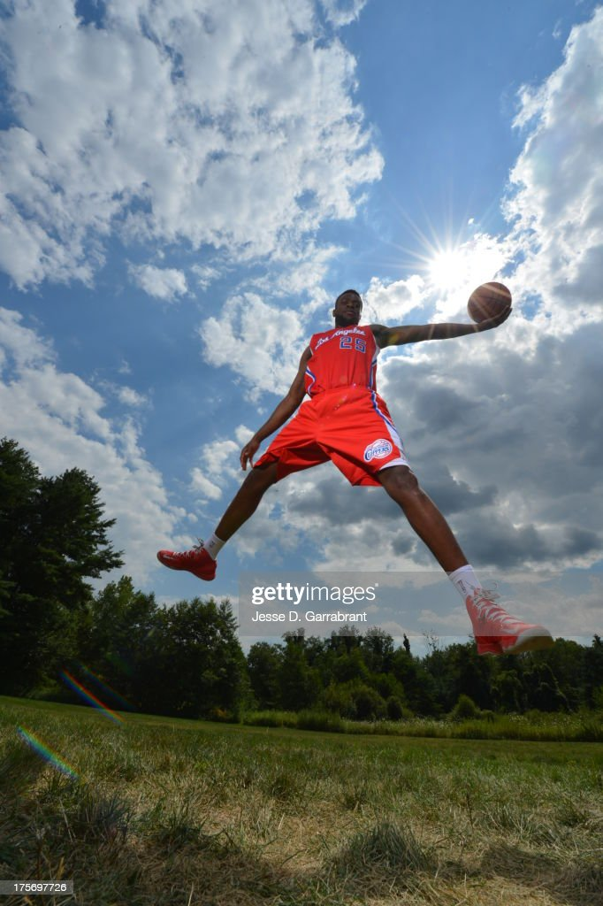 Reggie Bullock of the Los Angeles Clippers poses for a portrait during the 2013 NBA Rookie Photo Shoot on August 6, 2013 at the MSG Training Facility in Tarrytown, New York.