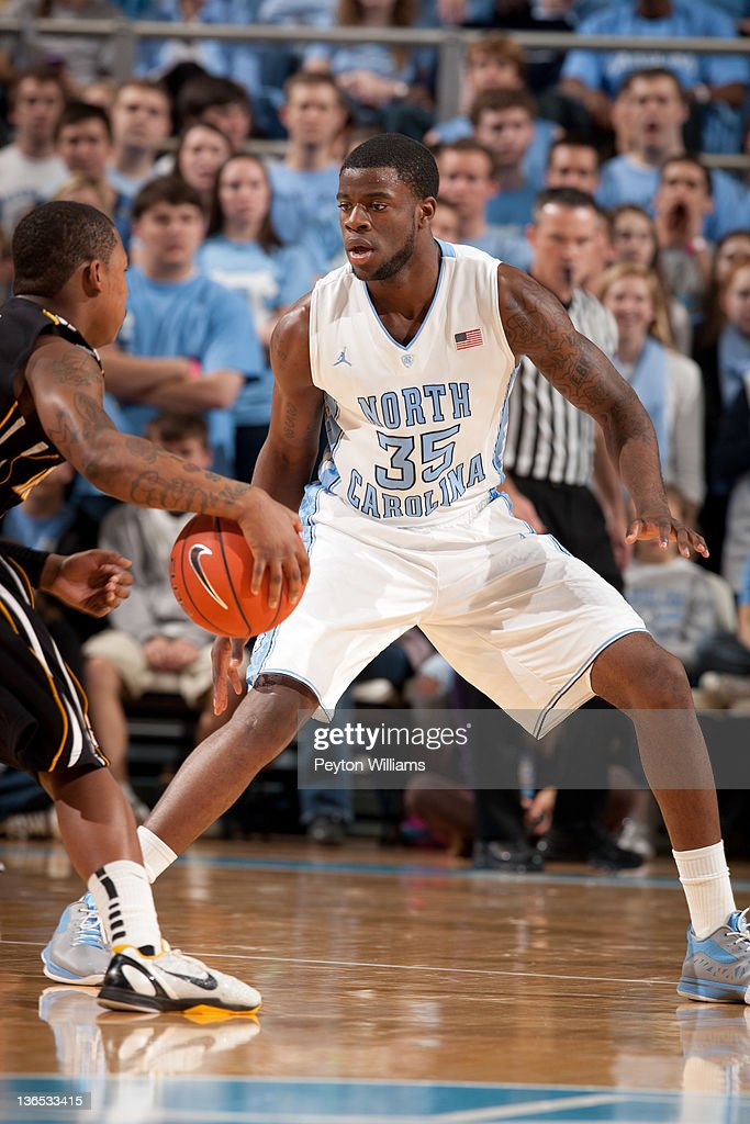 Reggie Bullock of the North Carolina Tar Heels guards against the Appalachian State Mountaineers on December 17 2011 at the Dean E Smith Center in...