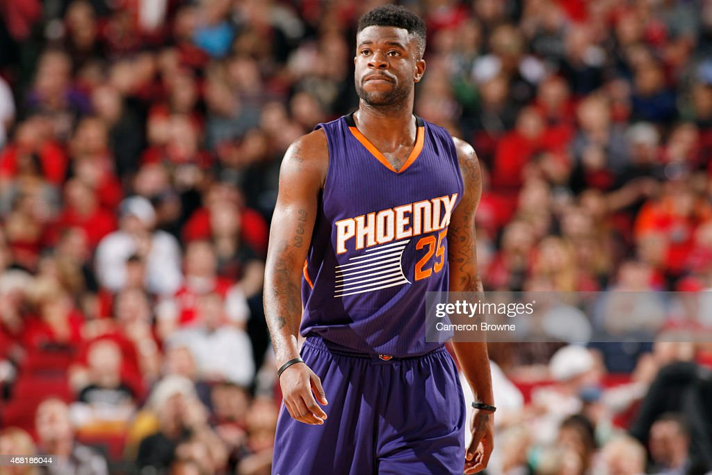 Reggie Bullock #25 of the Phoenix Suns during the game against the Portland Trail Blazers on March 30, 2015 at Moda Center in Portland, Oregon.