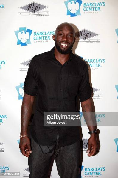Reggie Evans attends the grand opening of the 40/40 Club at Barclays Center on September 27 2012 in the Brooklyn borough of New York City