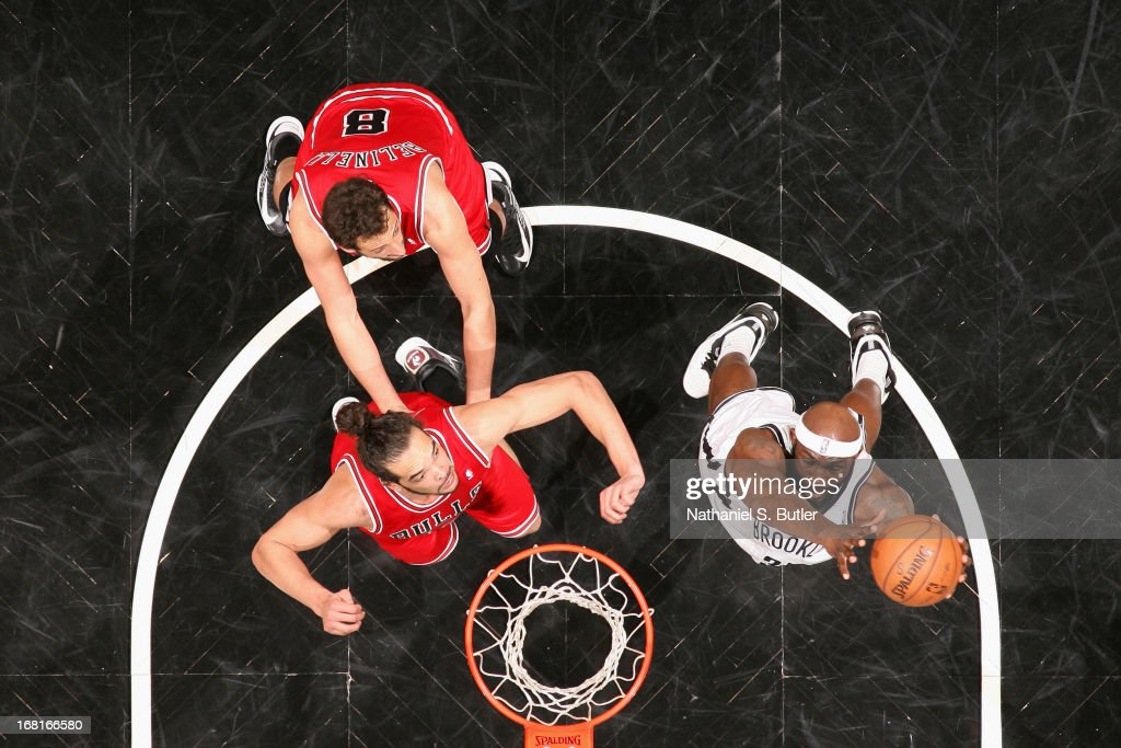 <a gi-track='captionPersonalityLinkClicked' href=/galleries/search?phrase=Reggie+Evans&family=editorial&specificpeople=202254 ng-click='$event.stopPropagation()'>Reggie Evans</a> #30 of the Brooklyn Nets goes up for a rebound against the Chicago Bulls during the Game Seven of the Eastern Conference Quarterfinals during the 2013 NBA Playoffs at the Barclays Center on May 4, 2013 in the Brooklyn borough of New York City.