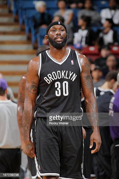 Reggie Evans of the Brooklyn Nets in a game against the Sacramento Kings on November 18 2012 at Sleep Train Arena in Sacramento California NOTE TO...