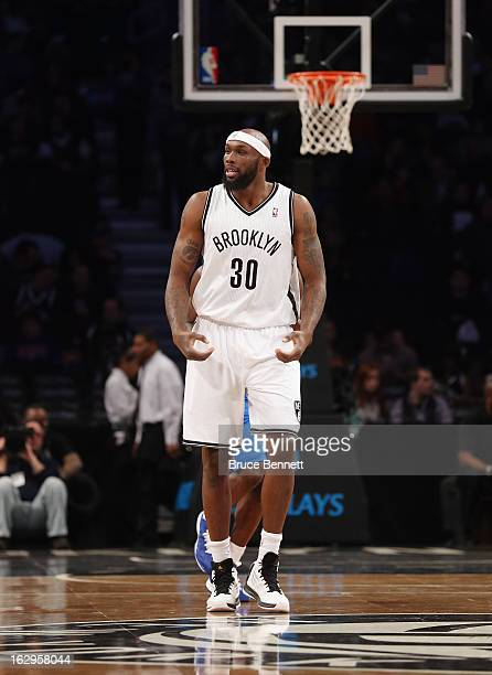 Reggie Evans of the Brooklyn Nets plays against the Dallas Mavericks at the Barclays Center on March 1 2013 in New York City NOTE TO USER User...
