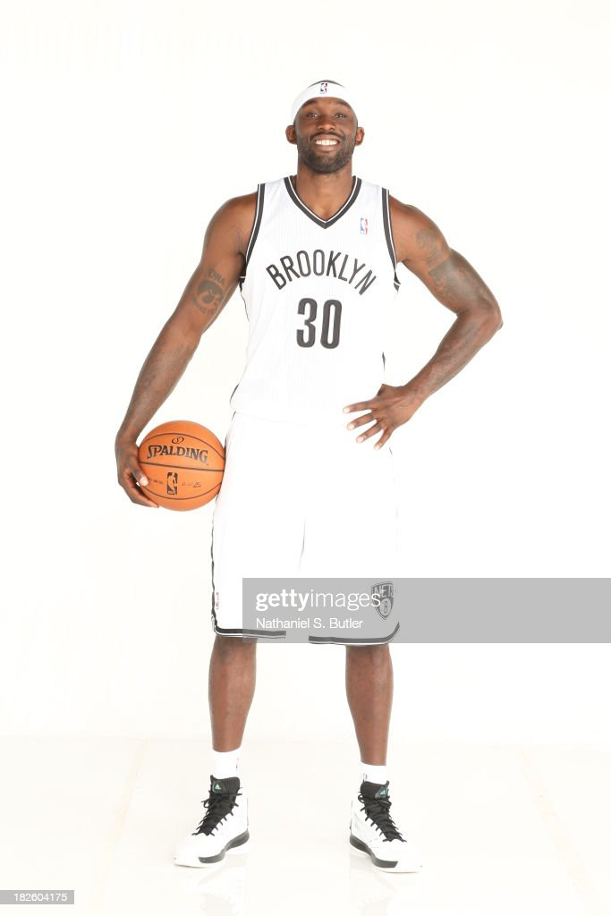 Reggie Evans #30 of the Brooklyn Nets poses for a portrait during Media Day at the Barclays Center in Brooklyn, NY.