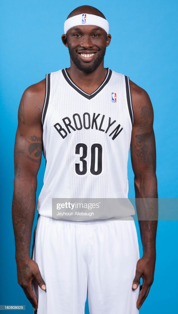 Reggie Evans #30 of the Brooklyn Nets poses for a portrait during Media Day on September 30, 2013 at Barclay's Center in Brooklyn Borough of New York, New York.