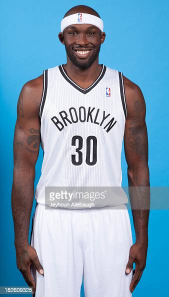Reggie Evans of the Brooklyn Nets poses for a portrait during Media Day on September 30 2013 at Barclay's Center in Brooklyn Borough of New York New...