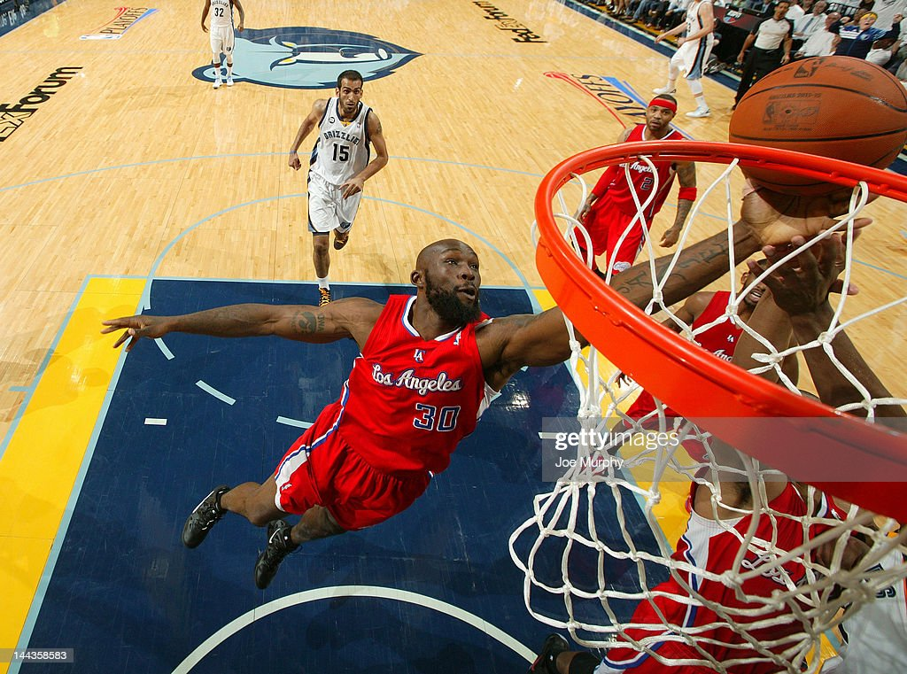 Reggie Evans #30 of the Los Angeles Clippers grabs a rebound in Game Seven of the Western Conference Quarterfinals against the Memphis Grizzlies during the 2012 NBA Playoffs on May 13, 2012 at FedExForum in Memphis, Tennessee.