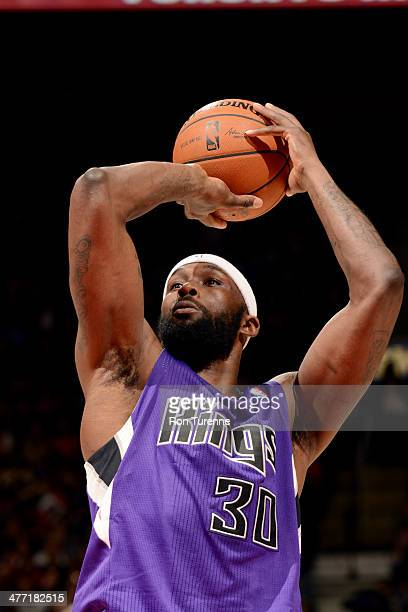 Reggie Evans of the Sacramento Kings against the Toronto Raptors on March 7 2014 at the Air Canada Centre in Toronto Ontario Canada NOTE TO USER User...